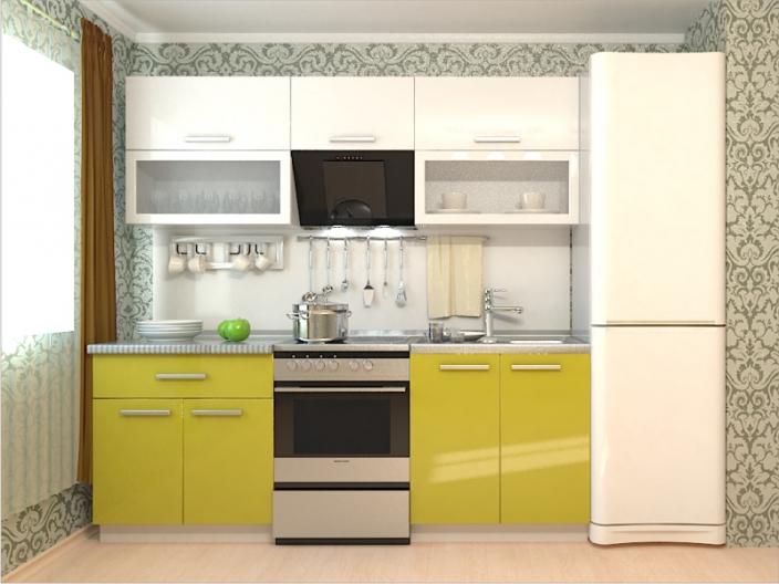 Кухонный гарнитур РАДУГА-2200 (Фасад МДФ комби, 3 расцветки)