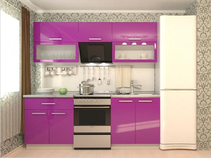 Кухонный гарнитур РАДУГА-2200 (Фасады МДФ цветные, 4 расцветки)