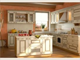 """Модульная кухня """"ШАМОНИ"""" (Дуб выбеленный, патина """"коричневая"""")"""