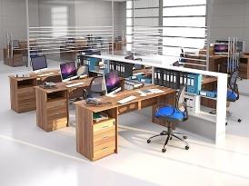 Мебель для персонала ЭКООФИС (комплект-02)