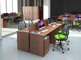 Мебель для персонала ЭКООФИС (комплект-03)