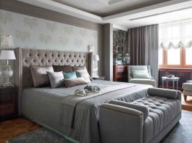 Кровать двуспальная с мягким изголовьем SOFT-001