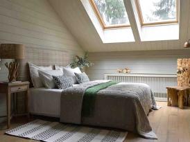 Кровать двуспальная с мягким изголовьем SOFT-003