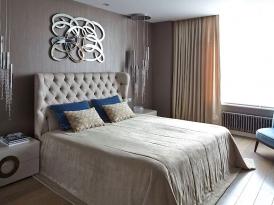 Кровать двуспальная с мягким изголовьем SOFT-005