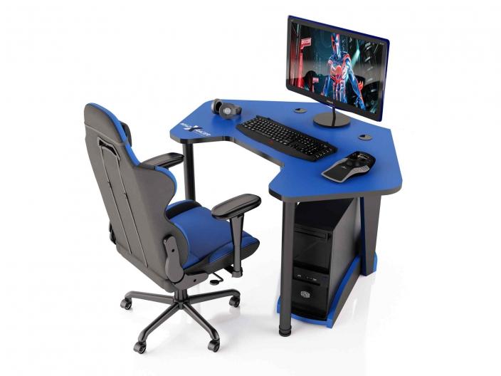 Угловой игровой компьютерный стол MaDXRacer PILOT GTC12/B