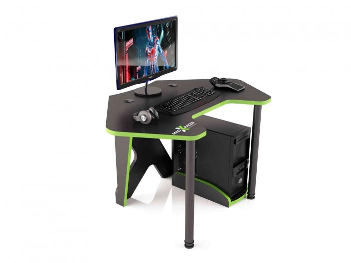 Угловой игровой компьютерный стол MaDXRacer PILOT GTC12/BG