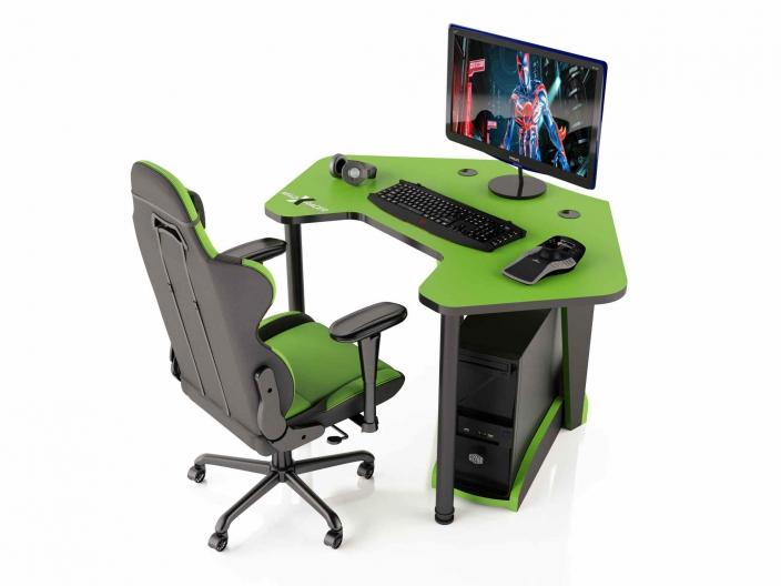 Угловой игровой компьютерный стол MaDXRacer PILOT GTC12/G