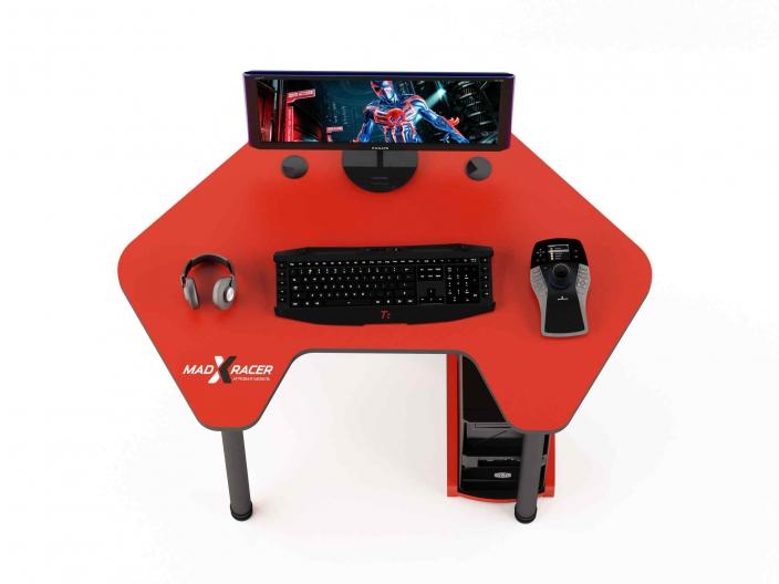 Угловой игровой компьютерный стол MaDXRacer PILOT GTC12/R