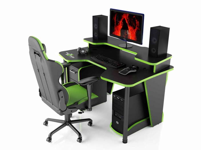 Геймерский компьютерный стол MaDXRacer COMFORT GT14N/BG