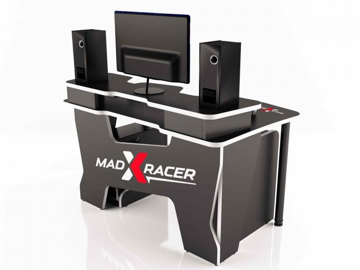 Геймерский компьютерный стол MaDXRacer COMFORT GT14N/BW
