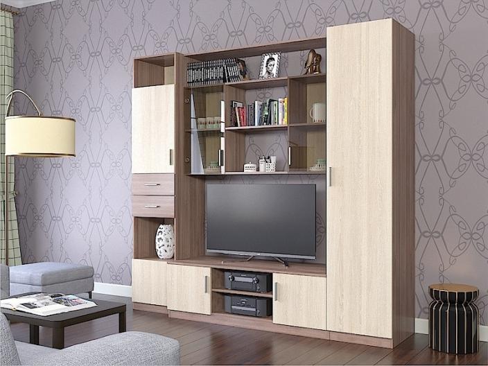 Модульная гостиная ПРОСТОР (комплект-01) 2250х520х2100мм