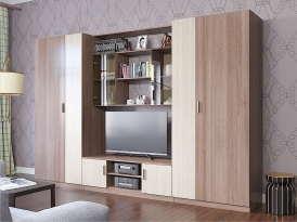 Модульная гостиная ПРОСТОР (комплект-05) 3150х520х2100мм