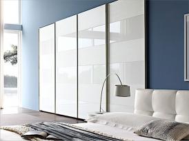 Двери для шкафа-купе ШКД-01 (двери со вставками стекло цветное)
