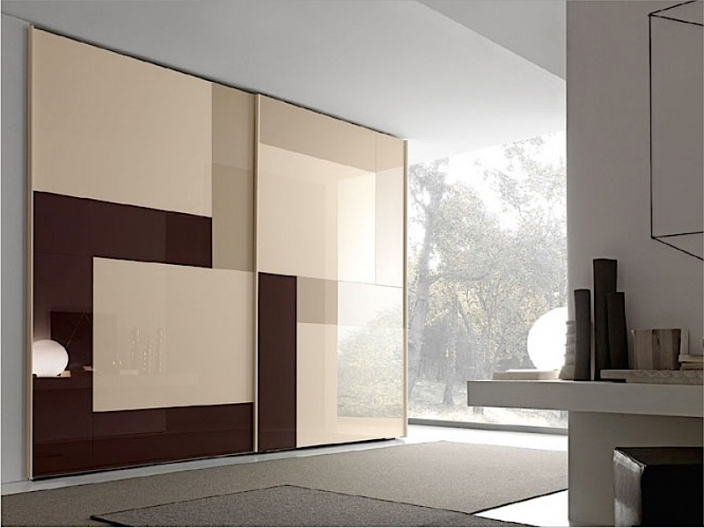 Двери для шкафа-купе ШКД-02 (двери стекло цветное)