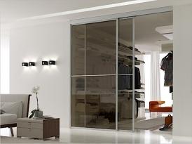 Двери для гардеробной ШКД-03 (двери стекло триплекс)