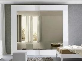 Двери для шкафа-купе ШКД-05 (двери комбинированные стекло цветное с зеркалом)
