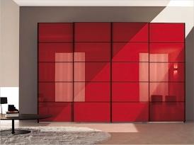 Двери для шкафа-купе ШКД-11 (двери стекло цветное с разбивкой)