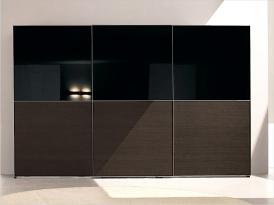Двери для шкафа-купе ШКД-12 (двери комбинированные стекло цветное и ЛДСП)