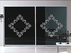 Двери для шкафа-купе ШКД-14 (двери стекло цветное)