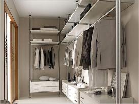 Гардеробная комната ГК-15 (алюминиевая система хранения КОНТУР )