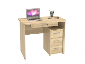 Стол компьютерный КС-202С (комплект-03) 1000х570х800мм