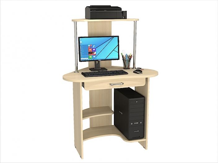 Стол компьютерный угловой КС-204С с надстройкой КС-204Н 980х645х1325мм