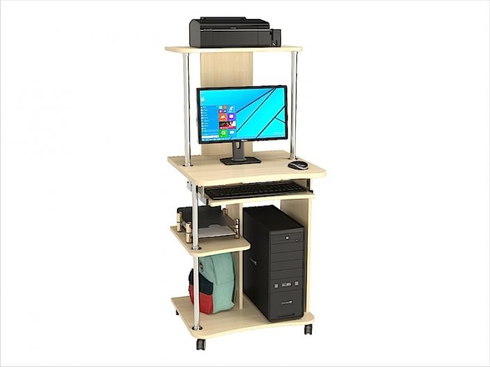 Стол компьютерный КС-205С с надстройкой КС-205Н 600х535х1325мм