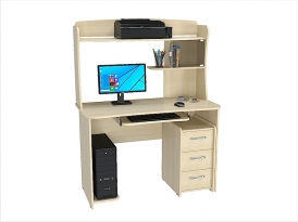 Стол компьютерный КС-206С с надстройкой КС-206Н (комплект-05) 1200х570х1600мм