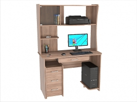 Стол компьютерный КС-206С с надстройкой КС-33Н 1200х570х1750мм