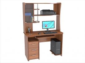 Стол компьютерный КС-206С с надстройкой КС-36Н 1200х570х1750мм