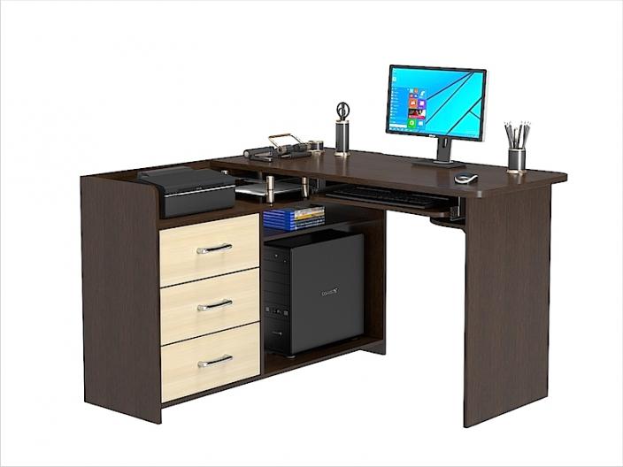Стол компьютерный угловой КС-207С (комплект-01) 1200х1200х780мм