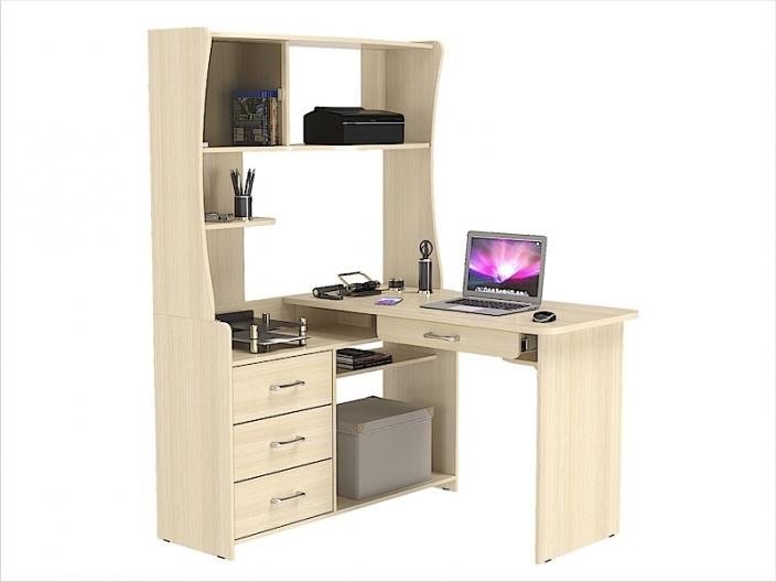 Стол компьютерный угловой КС-207С с надстройкой КС-33Н 1200х1200х1730мм
