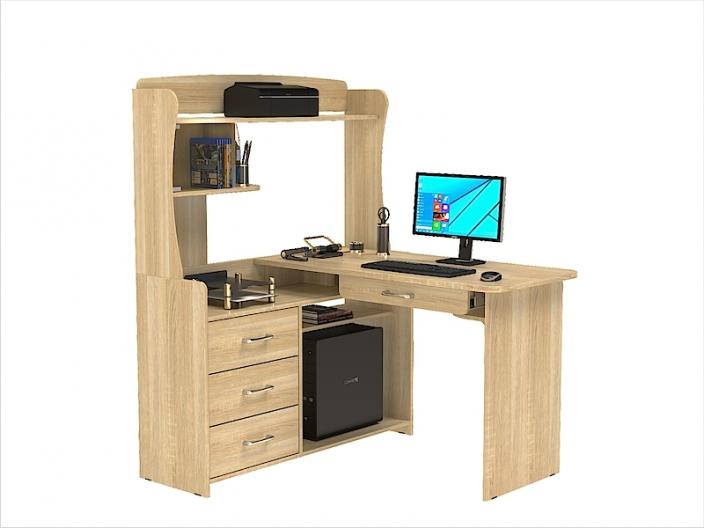 Стол компьютерный угловой КС-207С с надстройкой КС-206Н 1200х1200х1580мм