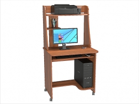 Стол компьютерный КС-05С с надстройкой КС-05Н (комплект-01) 800х600х1535мм