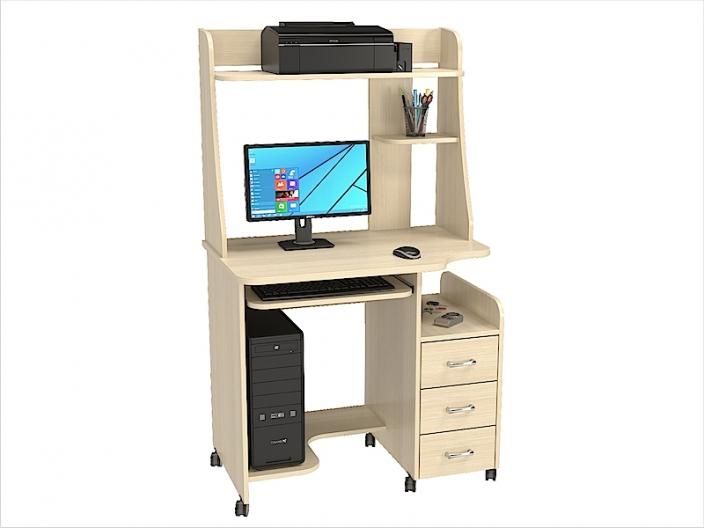 Стол компьютерный КС-06С с надстройкой КС-06Н (комплект-03) 900х610х1535мм