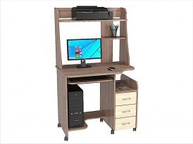 Стол компьютерный КС-06С с надстройкой КС-06Н (комплект-04) 900х610х1535мм