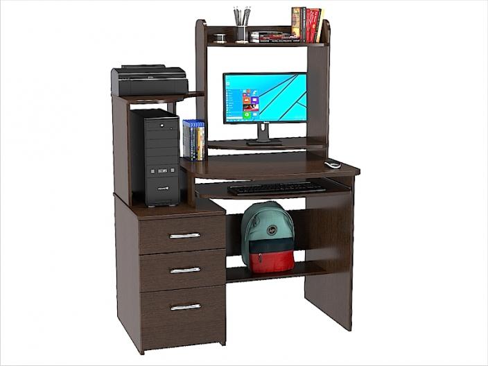 Стол компьютерный КС-23С с надстройкой 1050х670х1485мм