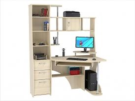 Стол компьютерный угловой КС-31С 1500х900х1968мм