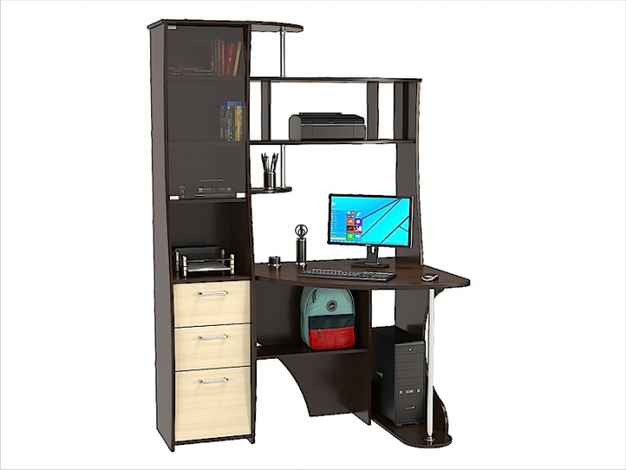 Стол компьютерный угловой КС-32С (комплект-01) 1300х900х1968мм