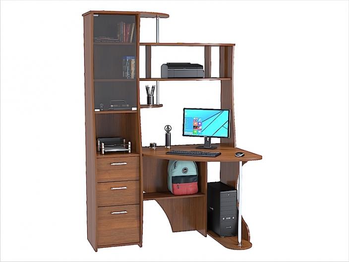 Стол компьютерный угловой КС-32С 1300х900х1968мм