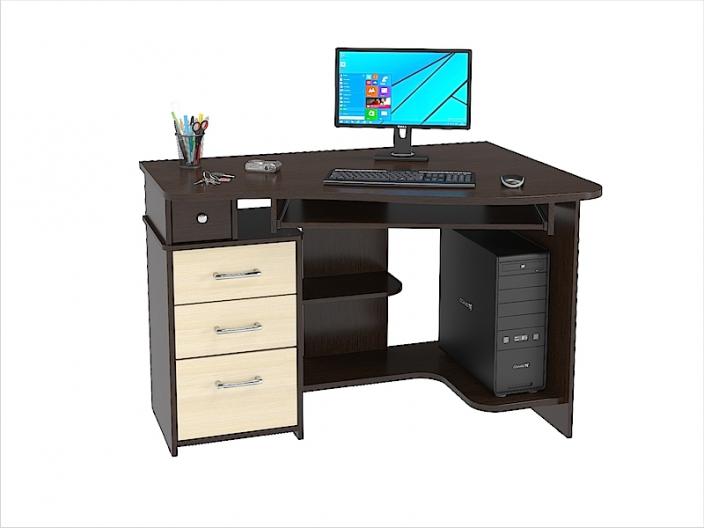 Стол компьютерный угловой КС-33С (комплект-01) 1200х870х810мм