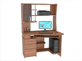 Стол компьютерный угловой КС-33С с надставкой КС-36Н 1200х870х1760мм